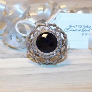 Jewelry - 👻STERLING SILVER 925 BLACK ONYX RING